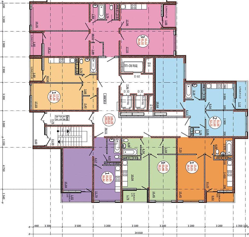 3-к квартира 85 кв.м. в Краснодаре ЖК на Магистральной цена 3250 т.р.