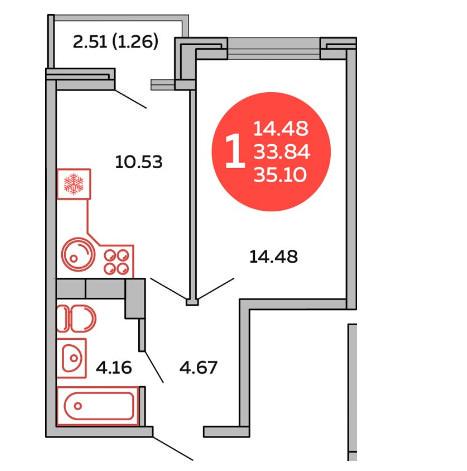Планировки Инсити, литер 7 Краснодар | план - 4