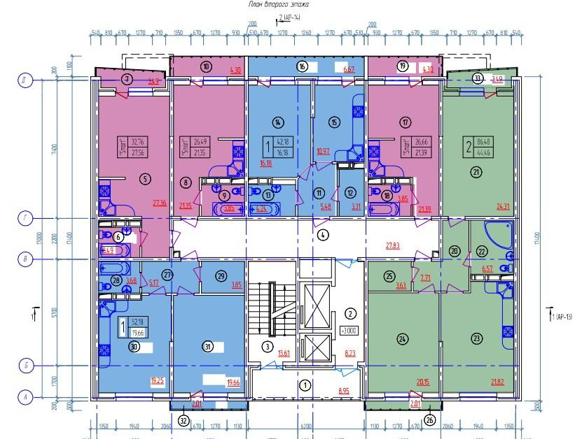 Планировки ЖК Дипломат Краснодар | план - 1