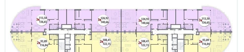 Планировки ЖК Элегант Краснодар | план - 2