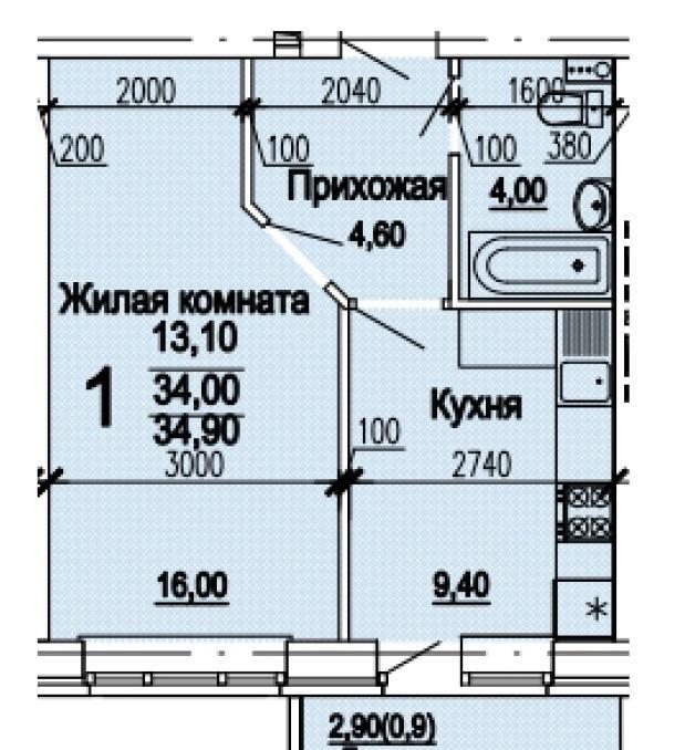 Планировки ЖК Оазис Краснодар | план - 2