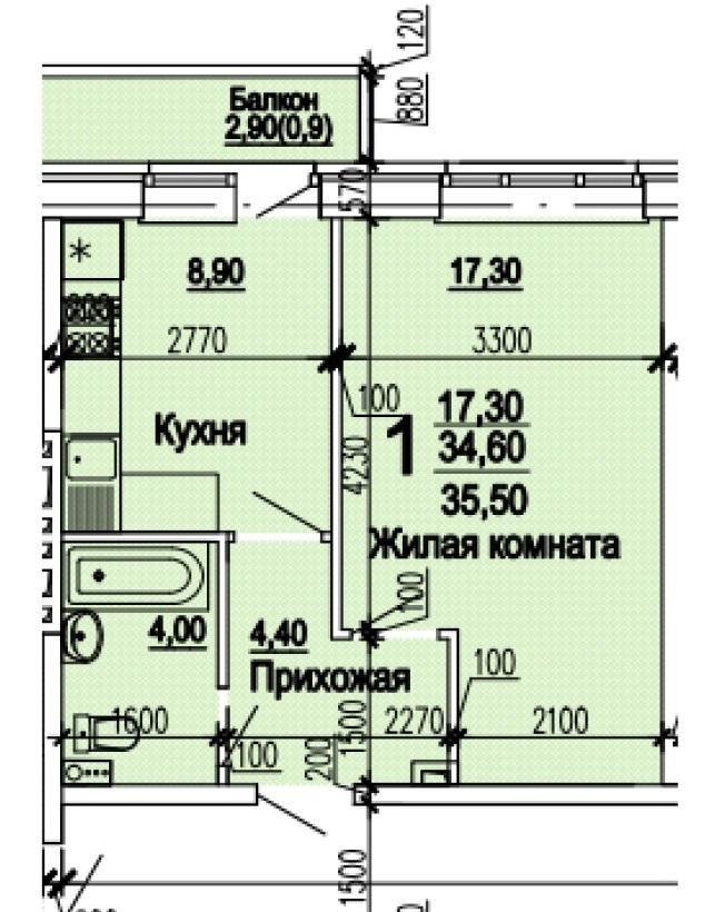 Планировки ЖК Оазис Краснодар | план - 3