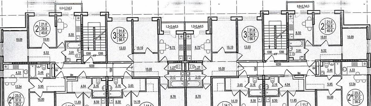 Планировки ЖК Прогресс литер 2,4 Краснодар | план - 1