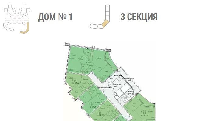 Планировки ЖК Солнечный город, литеры 1-2 Краснодар | план - 2