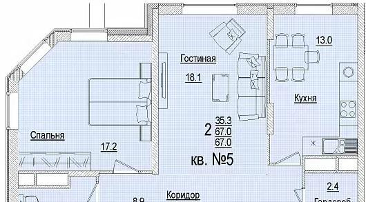 Планировки ЖК Солнечный город, литеры 3 Краснодар | план - 3