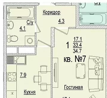 Планировки ЖК Солнечный город, литеры 3 Краснодар | план - 4