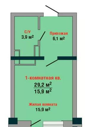 Планировки ЖК Янтарный-4 Краснодар | план - 1