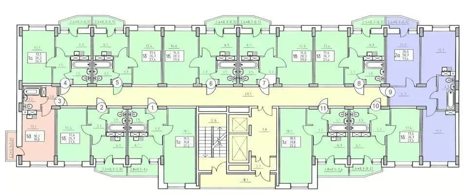 Планировки ЖК Абрикос Краснодар | план - 1
