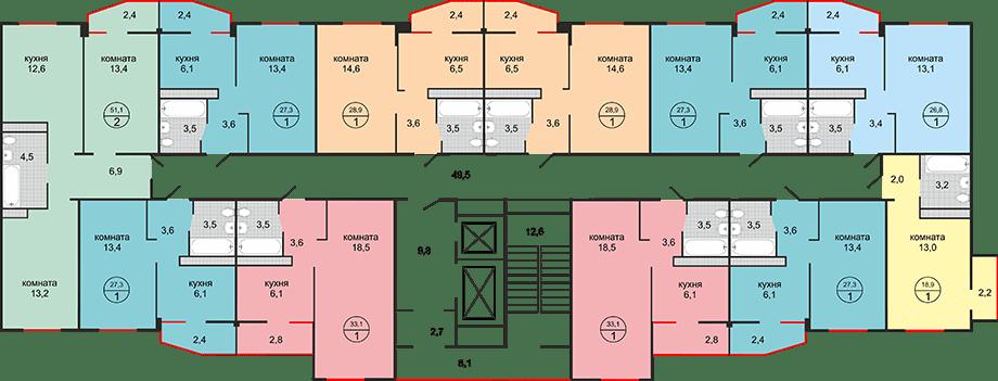 Планировки ЖК Абрикос Краснодар | план - 2