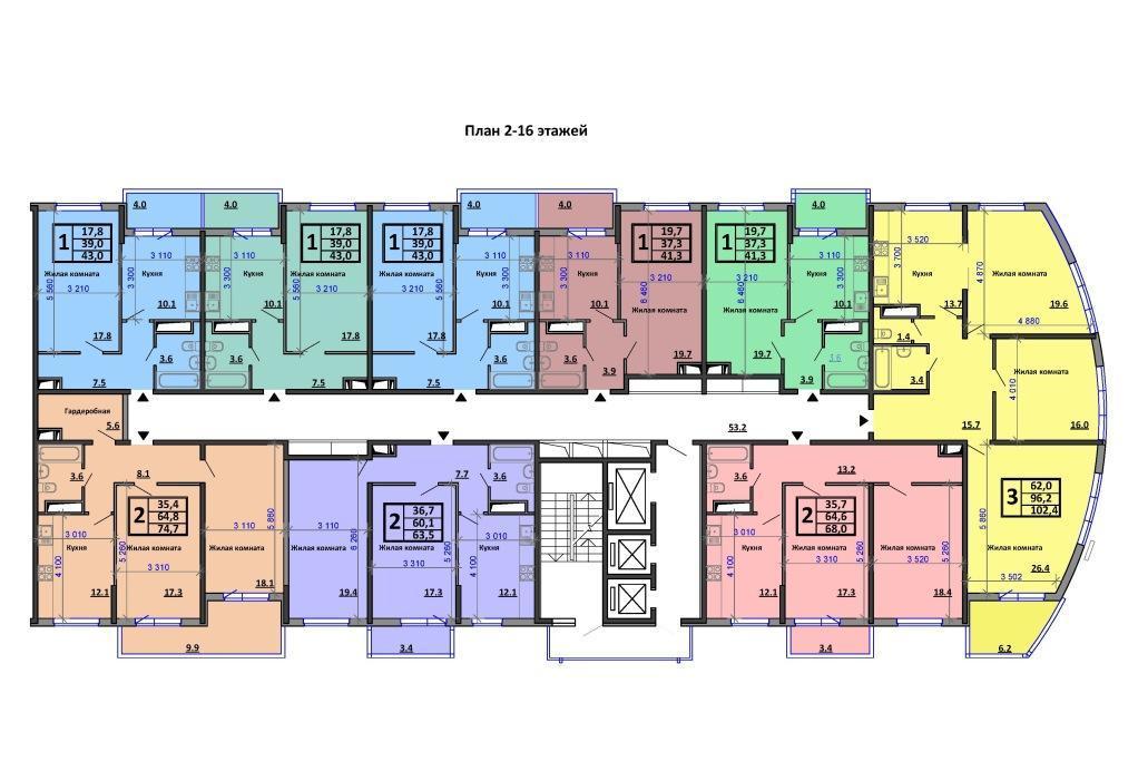 Планировки ЖК Аквамарин Краснодар | план - 3