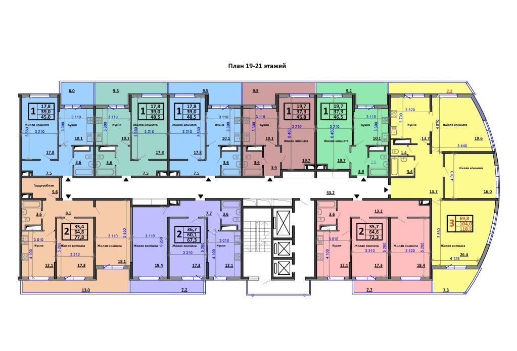 Планировки ЖК Аквамарин Краснодар | план - 7