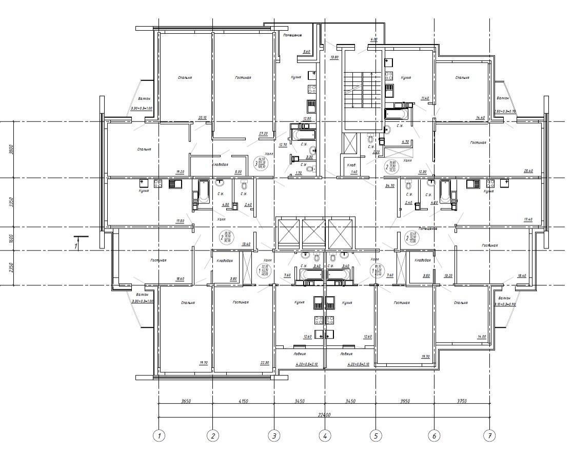Планировки ЖК Акварель Краснодар | план - 1