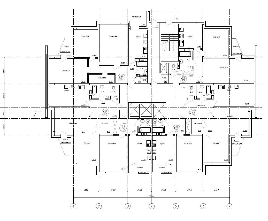 Планировки ЖК Акварель Краснодар | план - 5