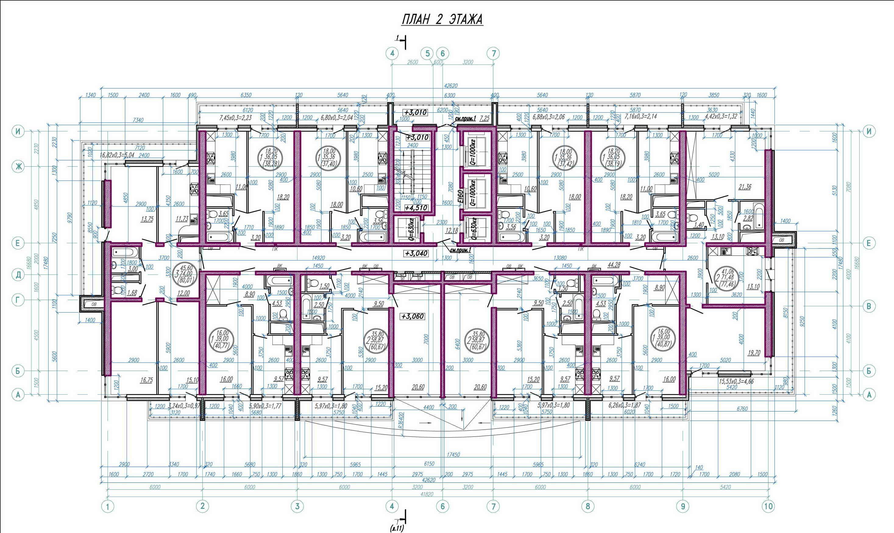 Планировки ЖК Анит-Сити, литер 2 Краснодар | план - 4