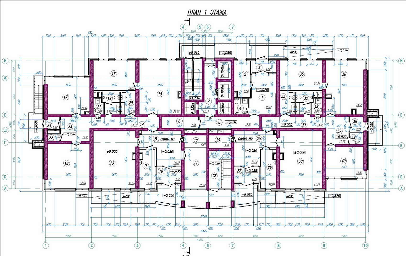 Планировки ЖК Анит-Сити, литер 2 Краснодар | план - 6