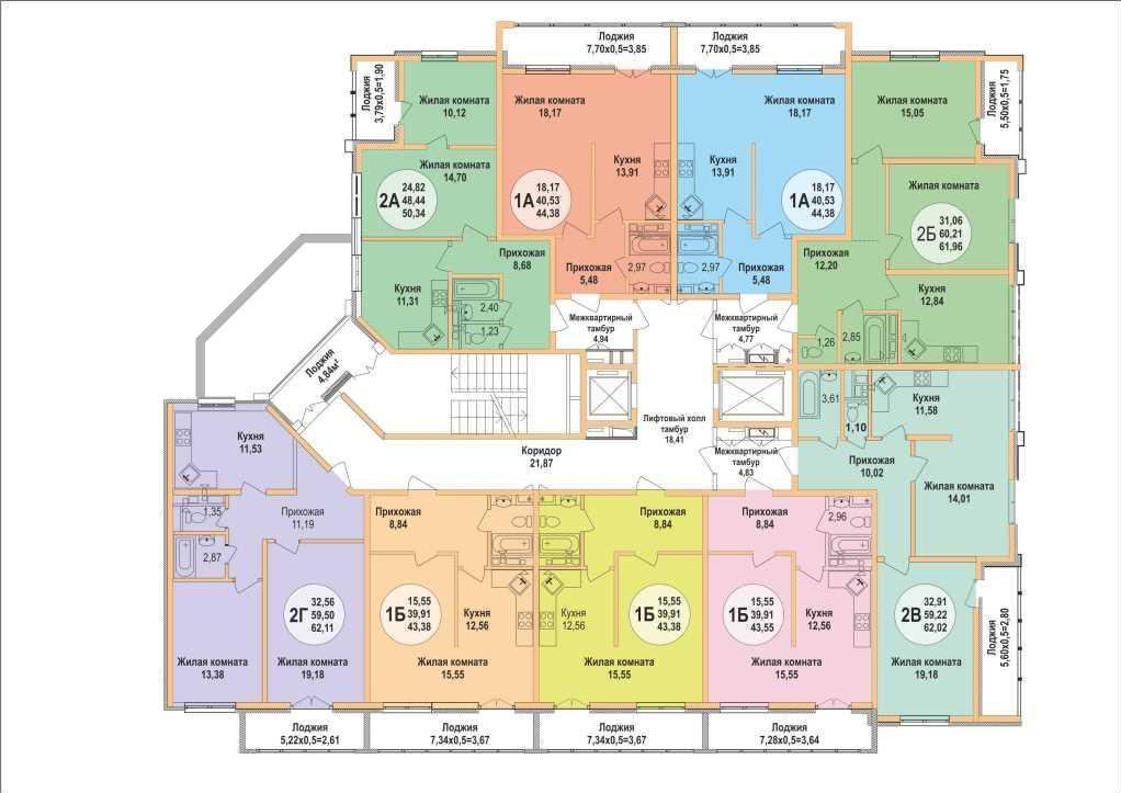 Планировки ЖК Арена Парк Краснодар | план - 1