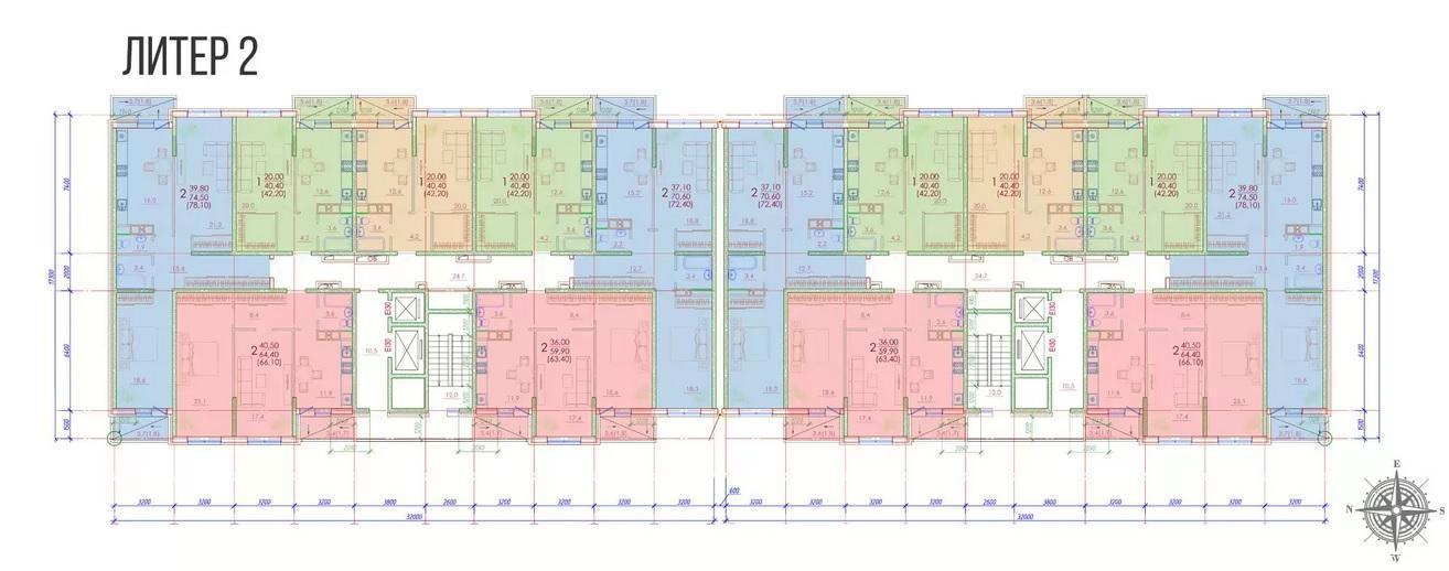 Планировки ЖК Березовый-2 Краснодар | план - 1