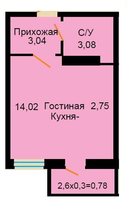 Планировки ЖК Большая Российская Краснодар | план - 10