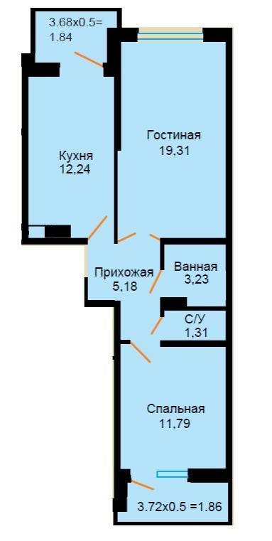 Планировки ЖК Большая Российская Краснодар | план - 2