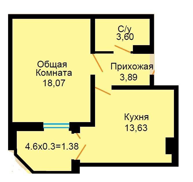 Планировки ЖК Большая Российская Краснодар | план - 6