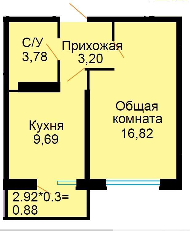 Планировки ЖК Большая Российская Краснодар | план - 7