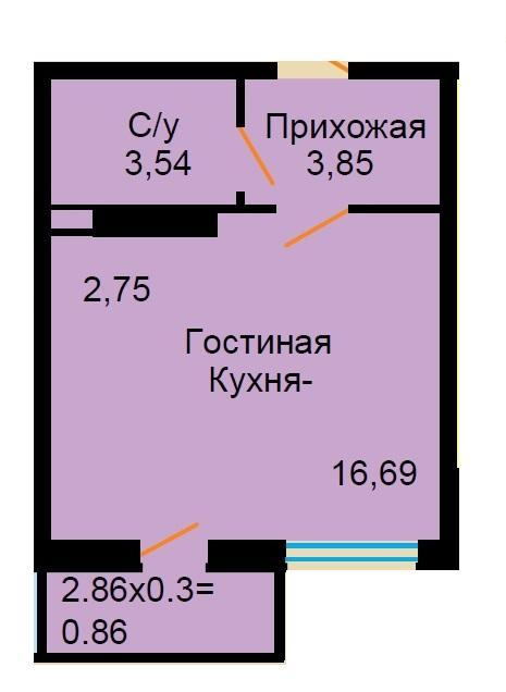 Планировки ЖК Большая Российская Краснодар | план - 8