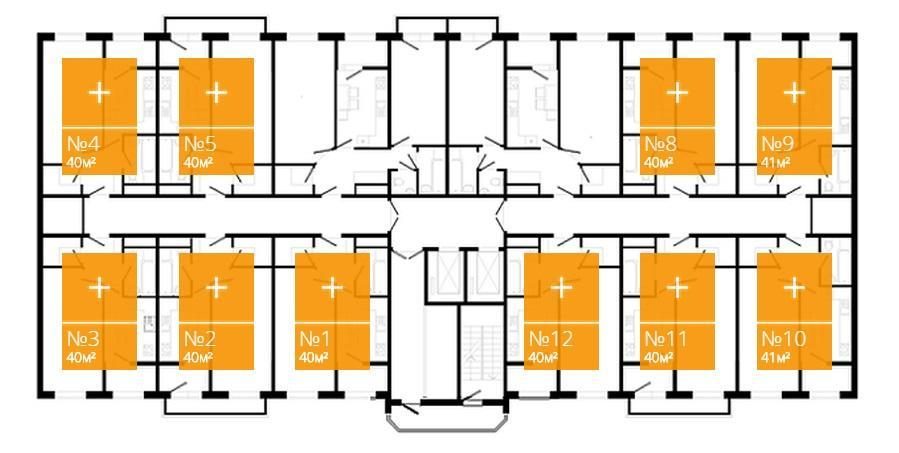 Планировки ЖК Большой, очередь 1 Краснодар | план - 1