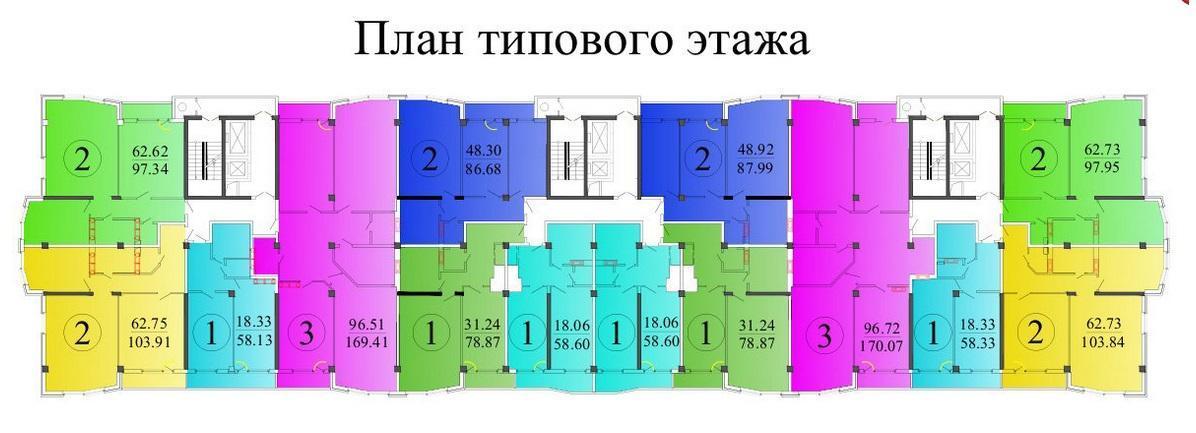 Планировки ЖК Чистяковская роща Краснодар | план - 1