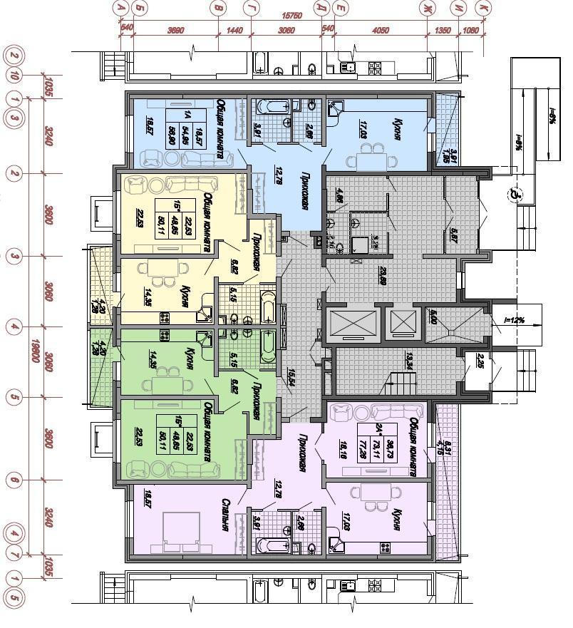 Планировки ЖК Дальняя, 4, литер 1 Краснодар | план - 3