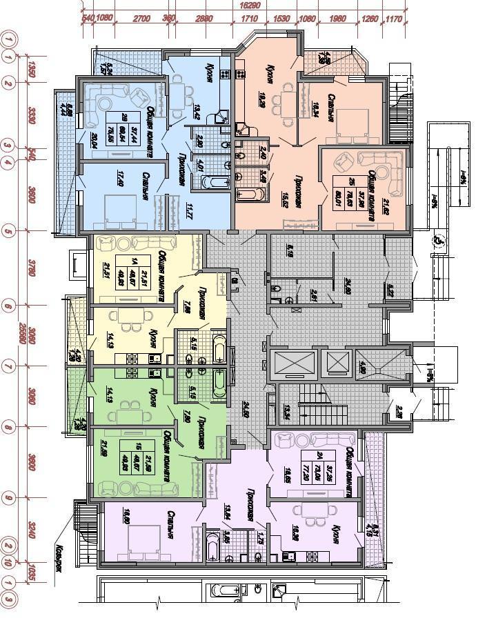Планировки ЖК Дальняя, 4, литер 1 Краснодар | план - 4