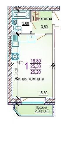 Планировки ЖК Добрый, литер 5 Краснодар | план - 3