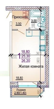 Планировки ЖК Добрый, литер 5 Краснодар | план - 4