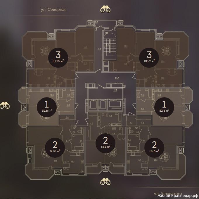Планировки ЖК Дом на Березанской Краснодар | план - 4