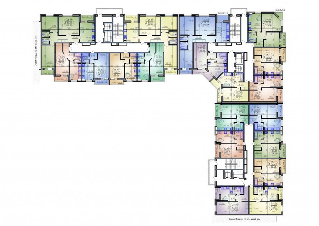 Планировки ЖК Дома на Вавилова Краснодар | план - 1
