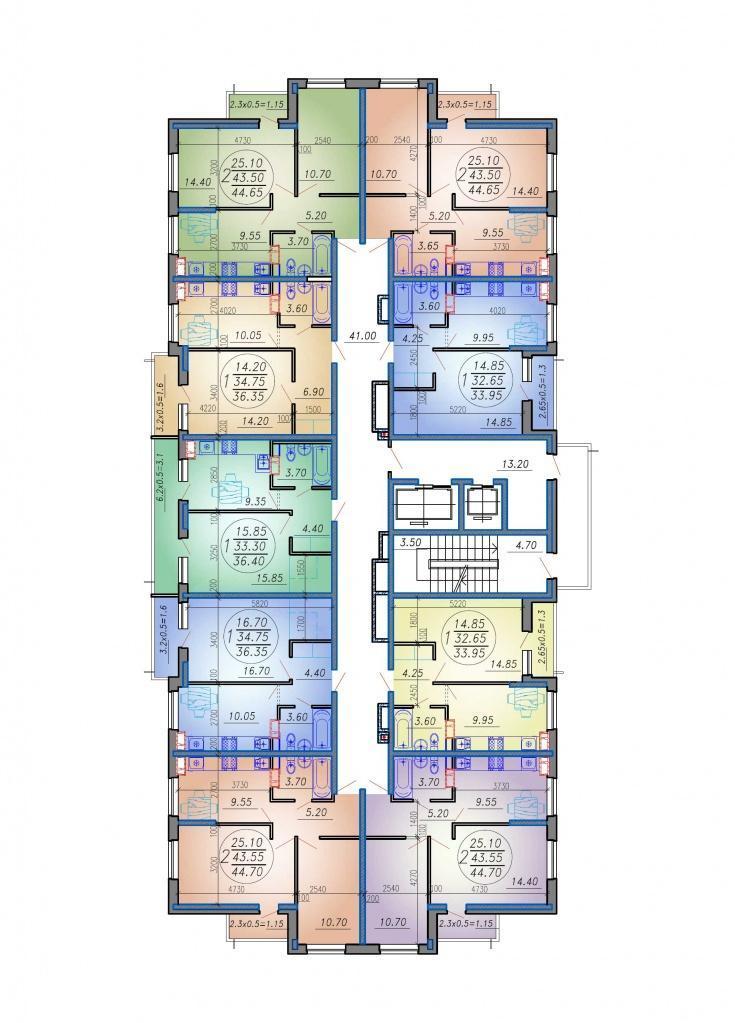 Планировки ЖК Дома на Вавилова Краснодар | план - 2