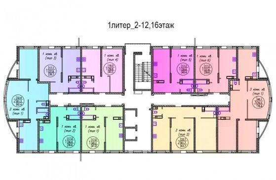 Планировки ЖК Домбайская, 6 Краснодар | план - 1