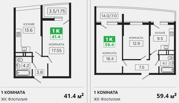Планировки ЖК Флотилия Краснодар | план - 4