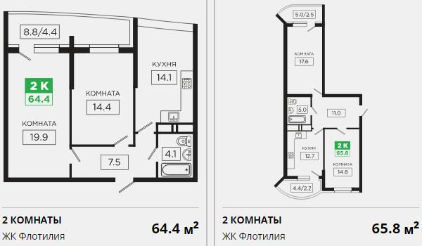 Планировки ЖК Флотилия Краснодар | план - 7