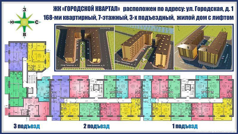 Планировки ЖК Городской квартал Краснодар | план - 1