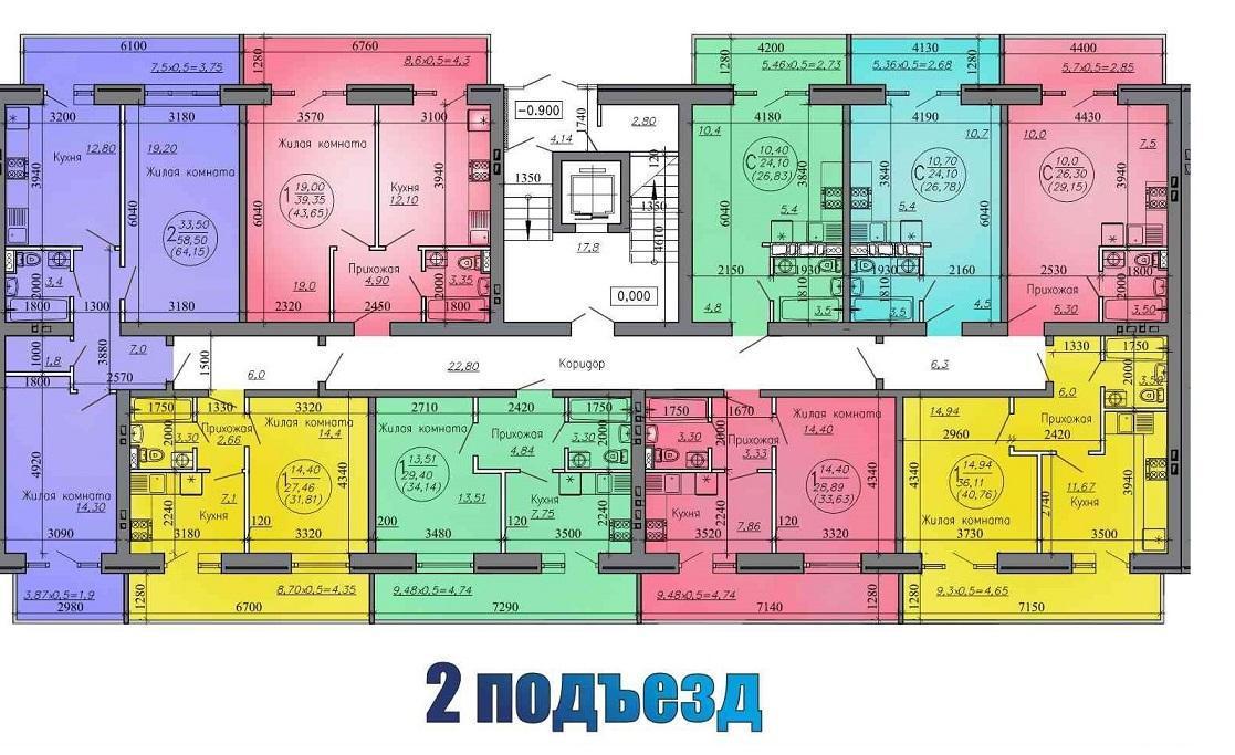 Планировки ЖК Городской квартал Краснодар | план - 3