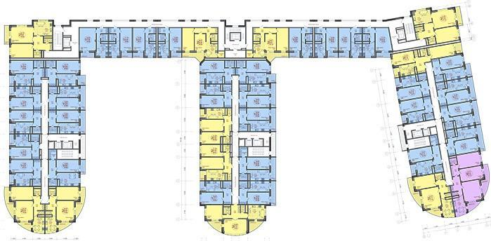 Планировки ЖК Империал, литер 1 Краснодар | план - 1