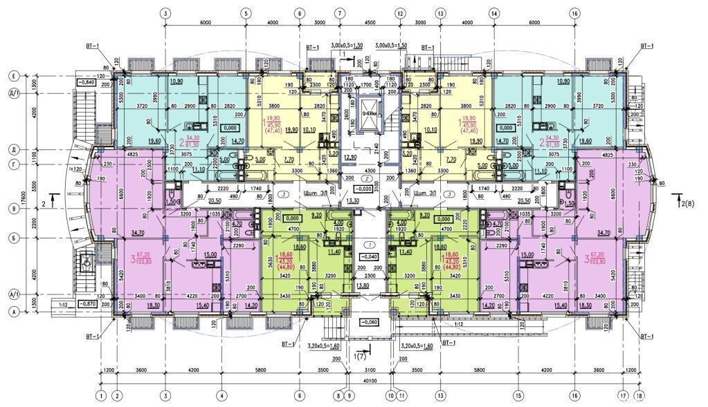 Планировки ЖК Классика Краснодар | план - 1