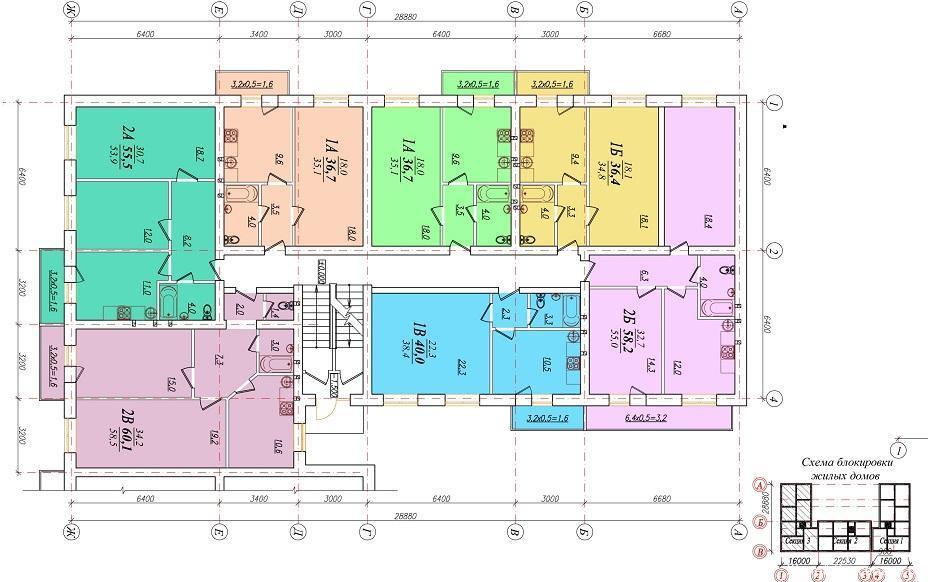 Планировки ЖК Красивый Краснодар | план - 5