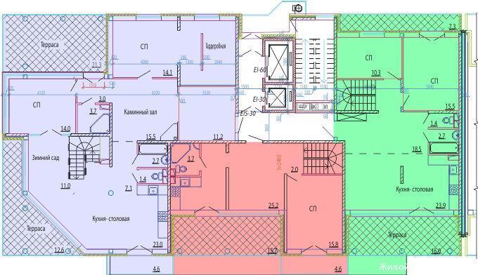 Планировки ЖК Курортный берег Краснодар | план - 6