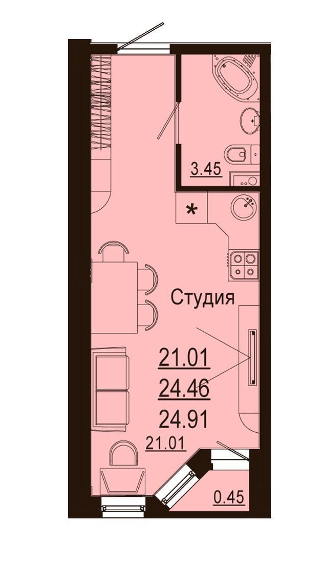 Планировки ЖК Лазурный Краснодар | план - 3