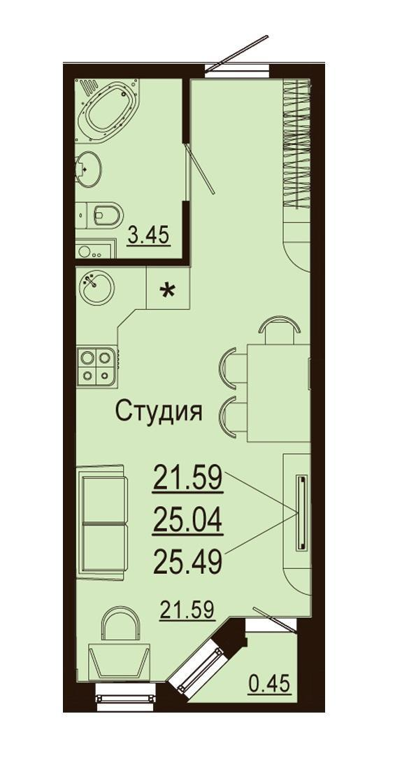 Планировки ЖК Лазурный Краснодар | план - 5