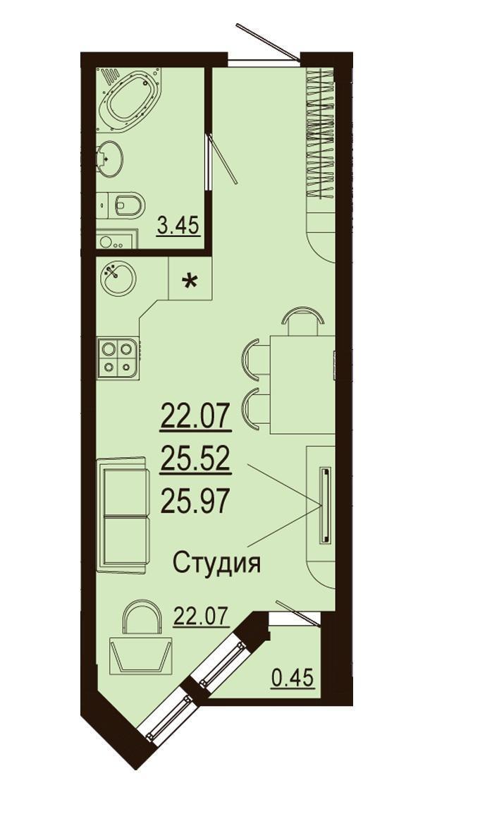 Планировки ЖК Лазурный Краснодар | план - 6