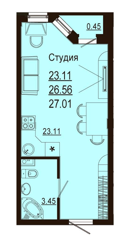 Планировки ЖК Лазурный Краснодар | план - 7