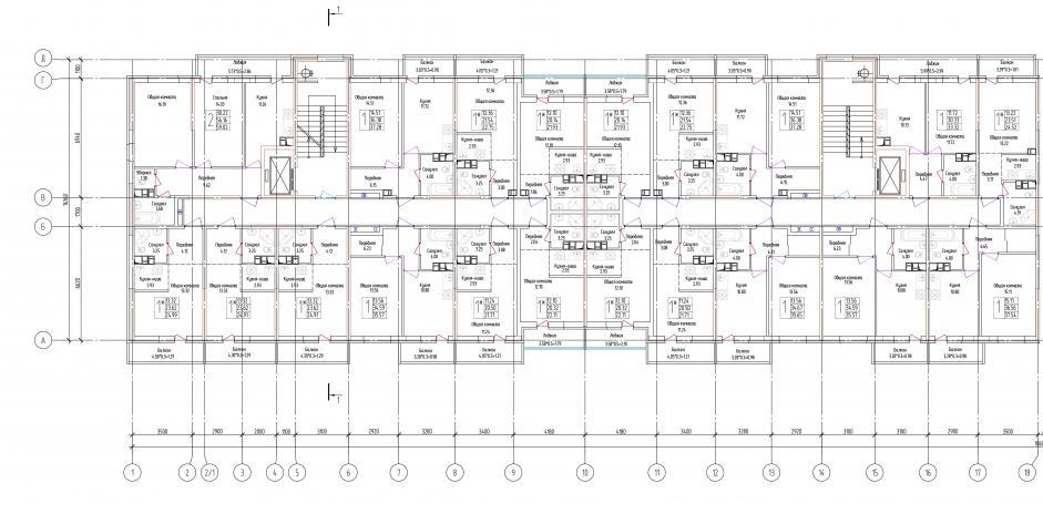 Планировки ЖК Лондон Парк, литер 2 Краснодар | план - 1