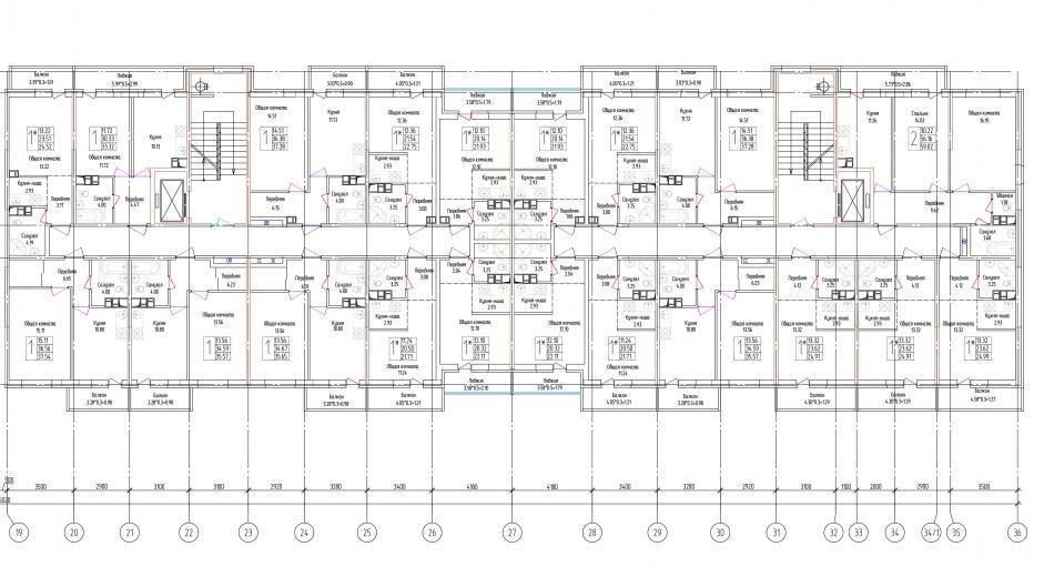 Планировки ЖК Лондон Парк, литер 2 Краснодар | план - 2